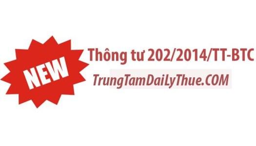 Thông tư 202/2014/TT-BTC hướng dẫn lập và trình bày BCTC hợp nhất