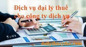 Dịch vụ đại lý thuế cho công ty dịch vụ