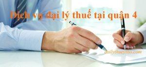 Dịch vụ đại lý thuế tại quận 4