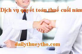 Dịch vụ quyết toán thuế cuối năm