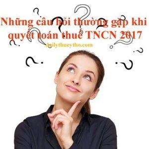 Quyết toán thuế TNCN năm 2017