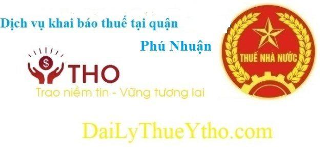 Dịch vụ làm báo cáo thuế tại quận Phú Nhuận