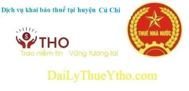 Dịch vụ khai báo thuế huyện Củ Chi