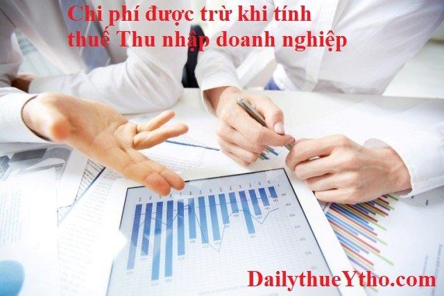 Chi phí nào được trừ khi tính thuế thu nhập doanh nghiệp